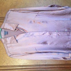 Ann Taylor silk pink blouse size 8